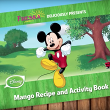 Freska and Disney Release New Retail Packaging and Mango Recipe and Activity Ebook