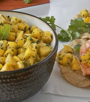 Lemon, Black Pepper and Mango Salsa