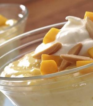 Mango and Almond Custard
