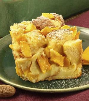 Brandied Mango Bread Pudding